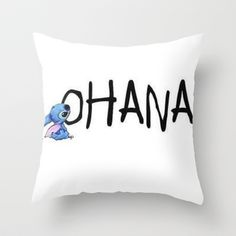 OHANA Throw Pillow by Sjaefashion - $20.00