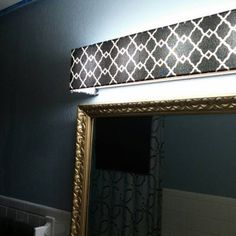 Vanity Light Cover Diy : This is a before and after of what Vanity Shades of Vegas can do to hide that ugly