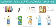Go with the best- Clean Mama's Can't-Live-Without Favorite Bathroom Cleaning Products