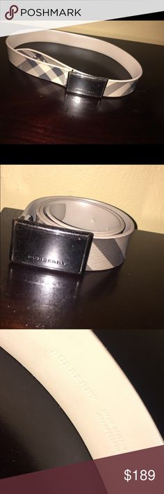 Burberry belt size 32 Original Burberry clasp buckle belt size 32. 100% authentic. Great condition, some marks on silver emblem logo. Burberry Accessories Belts