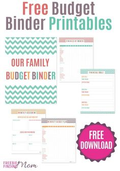 Need help organizing your finances? Download these free budget binder printables to keep track of your monthly spending and saving. This complete budget binder includes printable budget worksheets along with a financial goals sheet, monthly assessment sheet, and a cover page. Download your printable budget planner today! #FinancePrintables