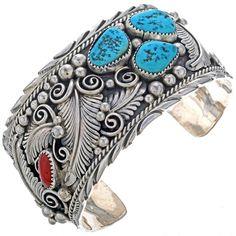 Turquoise Mens Cuff Navajo Made Big Boy Bracelet