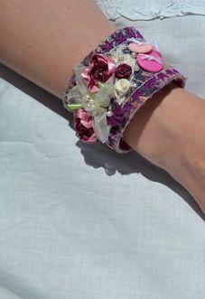 fabric cuff Cuff Bracelets, Studio, Fabric, Fashion, Tejido, Moda, Tela, Fashion Styles, Cloths