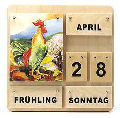 Holzkalender Vier Jahreszeiten - Dauerkalender