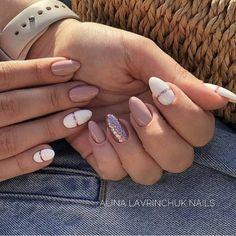 gel unghie - Nails Nails in 2020 Aycrlic Nails, Nude Nails, Nail Manicure, Hair And Nails, Glitter Nails, Pastel Nails, Pink Nails, Stylish Nails, Trendy Nails