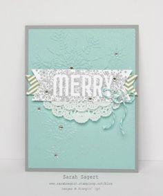 Stampin' Up! - Display Boards - Seasonally Scattered Merry - Sarah Sagert - www.sarahsagert.stampinup.net/blog Winter Christmas, Christmas Themes, Seasonally Scattered, Holiday Cards, Christmas Cards, Display Boards, Stampin Up Christmas, Stamping, Card Ideas