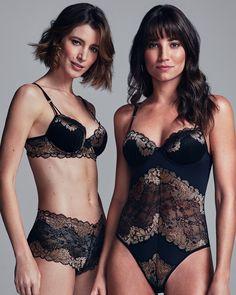Uma lingerie bonita e delicada pode ajudar a compor o seu look. Nessa coleção, a clássica renda vem repaginada com detalhes metalizados em dourado. Aposte nos bodies ou conjuntos para arrasar nesse fim de ano. #VemProvar #CelebreMais  Sutiã R$39,99 - 10038068256 Calcinha R$22,99 - 10038068478 Body R$79,95 - 10038068713 Lingerie Bonita, Body, Bikinis, Swimwear, Chic, Fashion, G Strings, Lace, Parties