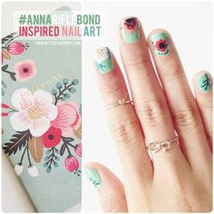 We're so inspired by the Rifle Paper Co. that we made a mani for it! #floral #nailart #manimonday