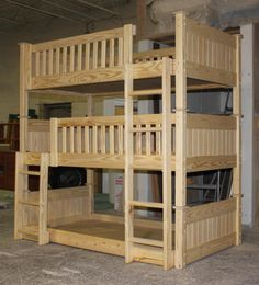 bunk beds 64 - custom unfinished triple bunk bed.JPG (538×593)