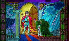 the beauty and the beast #stained glass