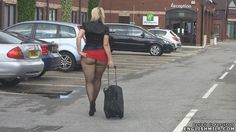 public pantyhose ass flashing