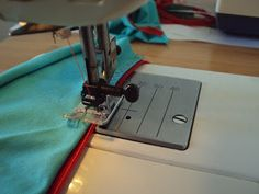 How to sew elastic on underwear using a serger.