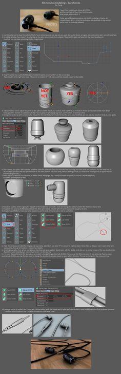 50 minute modeling - Earphones by DudQuitter.deviantart.com on @deviantART