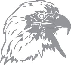 Glass etching stencil of Bald Eagle Profile. In category: Birds of Prey Wood Carving Patterns, Stencil Patterns, Stencil Art, Stencil Designs, Stencil Templates, Silhouette Art, Silhouette Projects, Glass Etching Stencils, Glass Engraving