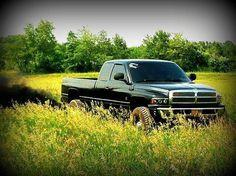 Black Second Generation Cummins Diesel Dodge Roll Coal Field Beauty
