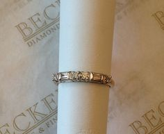 Vintage 14k two tone Round And Baguette by BeckersJewelersCT