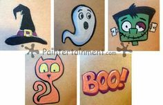 halloween cheek art - Google Search