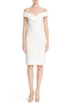 Alice + Olivia Luana Off the Shoulder Sheath Dress available at #Nordstrom