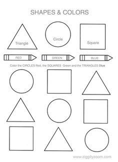 Shapes & Colors Printable Worksheet   Ziggity Zoom