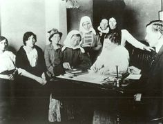 Immigrants being given a mental test at Ellis Island.