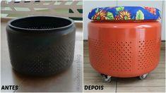 Joias da Casa: Puff com tambor de lavadora | www.joiadecasa.com.br