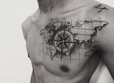 Compass - example center of the tattoo compass tattoo Forarm Tattoos, Arrow Tattoos, Body Art Tattoos, Compass And Map Tattoo, Compass Tattoo Design, Tattoo Sleeve Designs, Sleeve Tattoos, Globus Tattoos, Sextant Tattoo