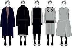 Fashion Portfolio - fashion illustrations, collection lineup drawings // Cristina Real