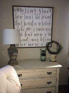 Amazing Grace framed wood sign  scripture by SaltedWordsCompany