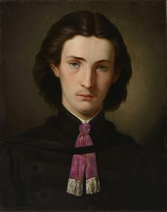 """the-paintrist: """"Gottfried Lindaur - Self-Portrait - 1862 Gottfried Lindauer, January 1839 – 13 June was a Bohemian and later a New Zealand artist famous for his portraits, including many of Māori people. He was born Bohumír Lindauer in Plzeň. Westerns, Maori People, Facial Tattoos, Modern Portraits, Classic Portraits, Popular Paintings, The Royal Collection, The Cross Of Christ, Academic Art"""