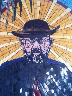 a father damien mosaic in lahaina on maui, #hawaii // Pater Damiaan // #Damiaanactie // www.damiaanactie.be // #Belgium