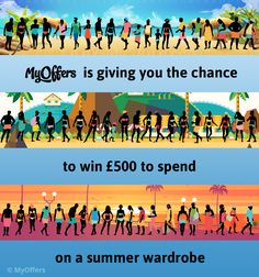 UK Only - MyOffers is giving you the chance to win to spend on a summer wardrobe. Gig Tickets, Shopping Vouchers, Season Ticket, Summer Wardrobe, Competition, Menswear, Free, Clothes, Fashion