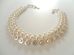 Lovely Faux Pearl 1950s Collar by webTheVintageAngel on Etsy, $66.00