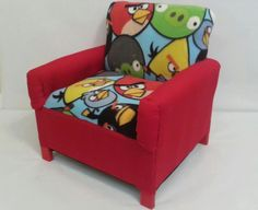 Angry Bird Sofa Chairs by TheLittleCouch on Etsy, $40.00