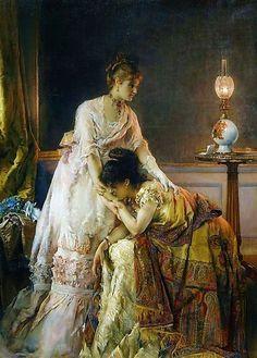 ~ Alfred Stevens ~ Belgian painter, 1823-1906