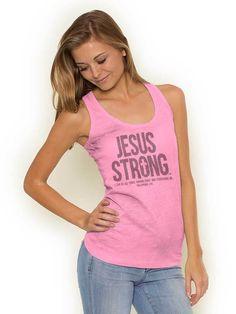 Jesus Strong Racerback Tank | Christian Strong