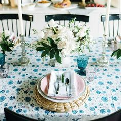 We were thrilled to partner with @themakerista for her pre- Mother's Day brunch with friends. Please check out her blog (http://www.themakerista.com/decorating-for-brunch/) for all the ways she decorated for this brunch and links to our products. Thanks in advance! #mothersday #brunch #tabledecor #tablesetting #tablescape #linens #linen #tablecloth #provence #france #handblockprint #placemats #seagrass #glassware #handblown #napkins #marble #serveware #diningroom #entertaining #totebag