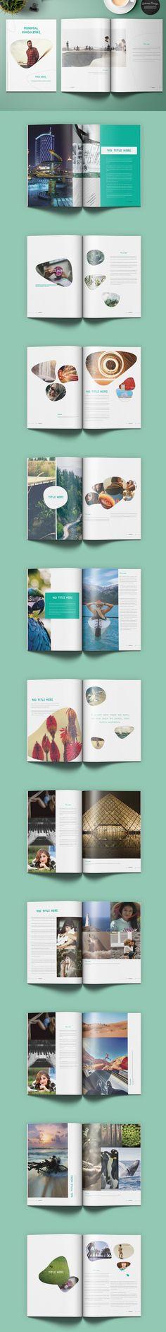 Minimal Magazine. Magazine Templates. $18.00