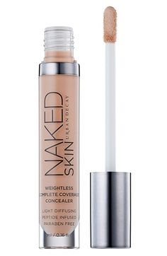 Free shipping and returns on Urban Decay 'Naked Skin' Weightless Complete Coverage Concealer at Nordstrom.com. Hide even your most scandalous flaws with Urban Decay Naked Skin Weightless Complete Coverage Concealer. It's a revolutionary high-coverage formula that provides buildable, weightless coverage with an invisible Naked Skin finish. The even, luminous coverage gives you a demi-matte finish and never lets it look like you're covered-up. Its high-tech formula melds like a second skin to…