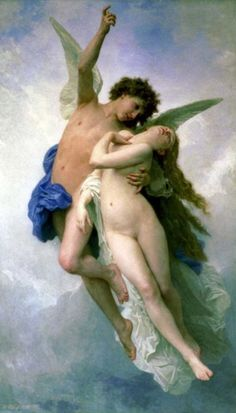 Psyche and Amour 1889 William- Adolphe  Bouguereau