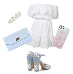 """white and floral"" by stylbella ❤ liked on Polyvore featuring LoveShackFancy, Boohoo, Humble Chic and Casetify"