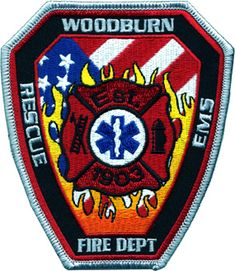 """Rudolph  Fire fire patch 4/"""" x 4/"""" size Wisconsin Rescue"""