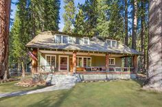 3885 WEST LAKE BOULEVARD , Homewood, CA - Old Tahoe Home as been beautifully cared for and is highlighted by the classic covered porch with log posts and railing keeping the Tahoe charm...click for more details