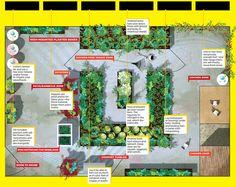 20' x 30' yard microfarm layout.