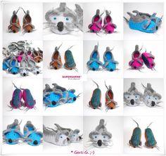 Schuhe - Filzpantoffeln,Filzschuhe,Filzpuschen,Mäuseschuhe - ein Designerstück von HaekelFee-Gerti_G bei DaWanda