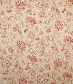 Linen and cotton printed fabric  http://www.justfabrics.co.uk/curtain-fabric-upholstery/red-alcazar-fabric/