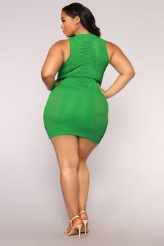 Available In Green Knit DressSleevelessMock Rayon Nylon Curvy Women Fashion, Plus Size Fashion, Plus Size Inspiration, Curvy Models, Plus Size Beauty, Plus Size Model, Gorgeous Women, Beautiful Gorgeous, Green Dress