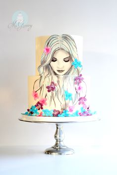 Beautiful cake to raise awareness of eating disorders by McGreevy Cakes.