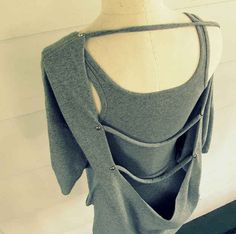 Open Back Strappy T-shirt | 27 Awesomely Cheap Ways To Transform A T-Shirt