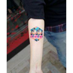 Geometrica tattoo by Matteo Nangeroni