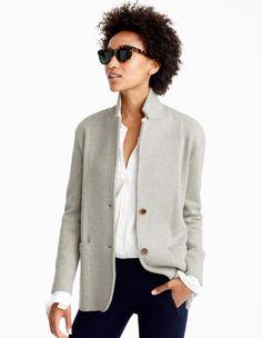 Merino Wool Sweater Blazer